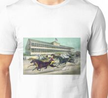 A race to the wire - Currier & Ives - 1891 Unisex T-Shirt