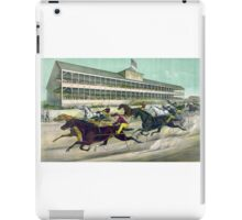 A race to the wire - Currier & Ives - 1891 iPad Case/Skin
