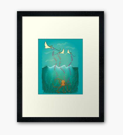 Into the deep ocean Framed Print