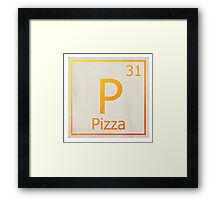 The element Pizza - Science Framed Print