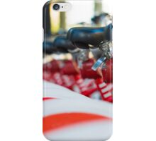 Row of bicycles iPhone Case/Skin