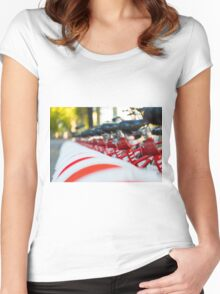 Row of bicycles Women's Fitted Scoop T-Shirt