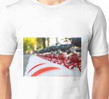 Row of bicycles Unisex T-Shirt