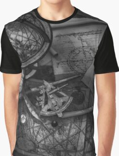 Old World Travel bw Graphic T-Shirt