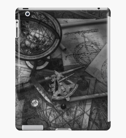 Old World Travel bw iPad Case/Skin