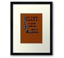 Clint Lee Eli Framed Print