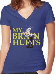 My Brain Hurts Women's Fitted V-Neck T-Shirt
