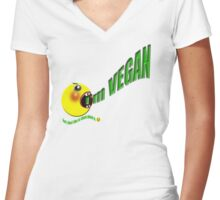 I'm vegan , but I don't like to shout about it Women's Fitted V-Neck T-Shirt
