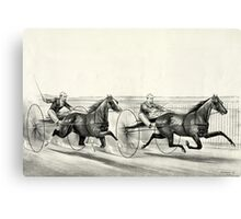 A rush for the heat - Currier & Ives - 1884 Canvas Print