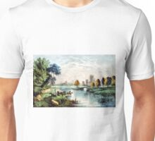A scene in old Ireland - Currier & Ives - 1907 Unisex T-Shirt
