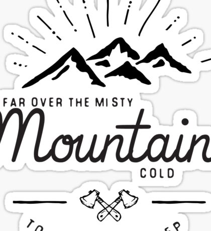 mountains transparent Sticker