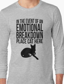 Place cat here Long Sleeve T-Shirt