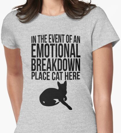 Place cat here Womens Fitted T-Shirt