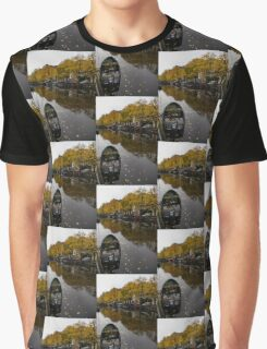 Autumn in Amsterdam - the Abandoned Boat Graphic T-Shirt