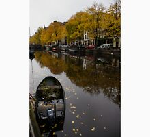 Autumn in Amsterdam - the Abandoned Boat T-Shirt