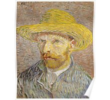 Vincent van Gogh - Self-Portrait with Straw Hat Poster