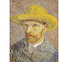 Vincent van Gogh - Self-Portrait with Straw Hat Photographic Print