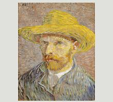 Vincent van Gogh - Self-Portrait with Straw Hat Unisex T-Shirt