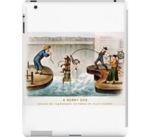 A sorry dog - Currier & Ives - 1888 iPad Case/Skin