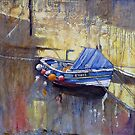 Gold in the Beck, Staithes by Sue Nichol