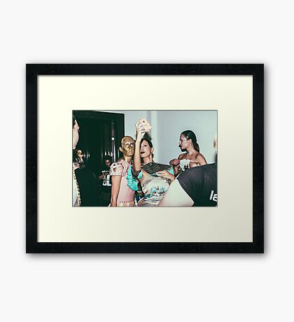 "London Fashion Week ""Selfie"" Framed Print"