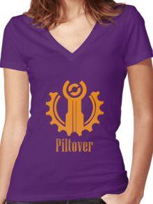 Piltover Women's Fitted V-Neck T-Shirt