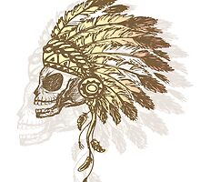 Native American Indian chief headdress by naum100