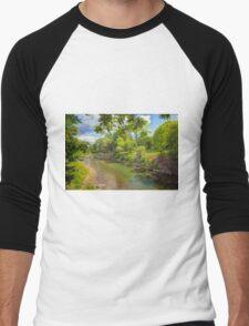 A Tranquil River Men's Baseball ¾ T-Shirt