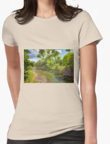 A Tranquil River Womens Fitted T-Shirt