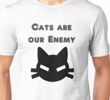 Iskybibblle Products Cats are our Enemy Black Unisex T-Shirt