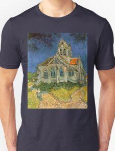 Vincent van Gogh - L'eglise d'Auvers sur Oise Unisex T-Shirt