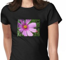 Pink cosmos flower Womens Fitted T-Shirt
