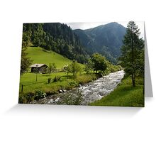 Bad Gastein Stream Greeting Card
