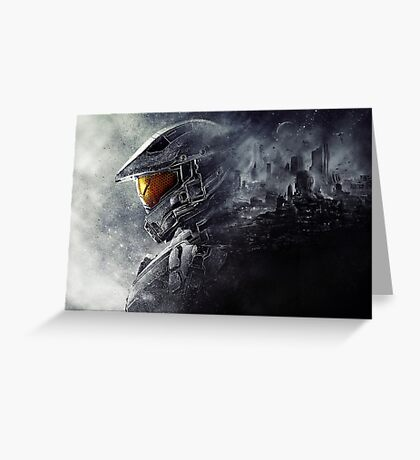 "Halo Master Chief ""Illusions"" Greeting Card"