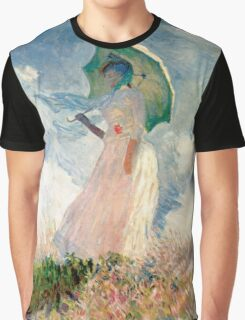 Claude Monet - Woman with a Parasol, Study Graphic T-Shirt