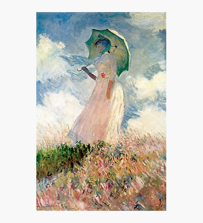 Claude Monet - Woman with a Parasol, Study Photographic Print