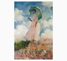 Claude Monet - Woman with a Parasol, Study One Piece - Short Sleeve