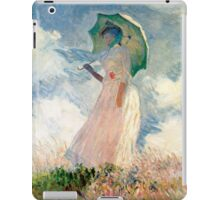 Claude Monet - Woman with a Parasol, Study iPad Case/Skin
