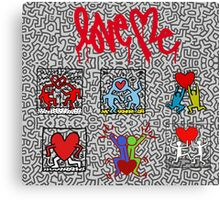 LOVE HARING Canvas Print