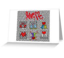 LOVE HARING Greeting Card