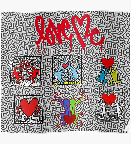 LOVE HARING Poster