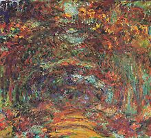 Claude Monet - The Rose Walk, Giverny, 1920-22 by mosfunky