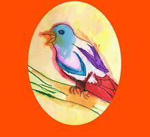Colorful Tropical Watercolor Bird Illustration Womens Fitted T-Shirt