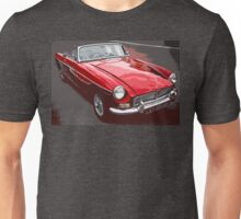 Red convertible MG classic car Unisex T-Shirt