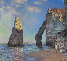 Claude Monet - The Cliffs at Etretat by mosfunky