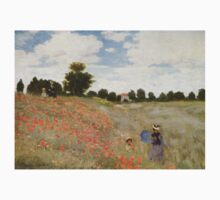Claude Monet - Coquelicots, La Promnade (Poppies) Kids Tee