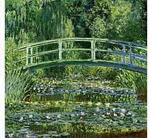 Claude Monet - Water Lilies and Japanese Bridge Photographic Print