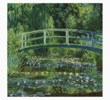Claude Monet - Water Lilies and Japanese Bridge Kids Tee