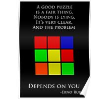 Erno Rubik Quote Poster