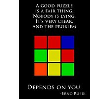 Erno Rubik Quote Photographic Print